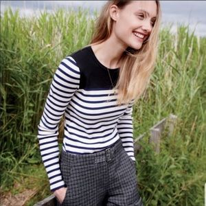 J Crew Placed stripe long sleeve